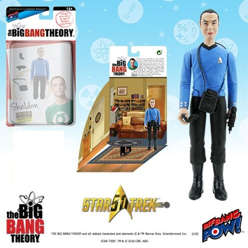 Bif Bang Pow Big Bang Theory Sheldon Star Trek Figure